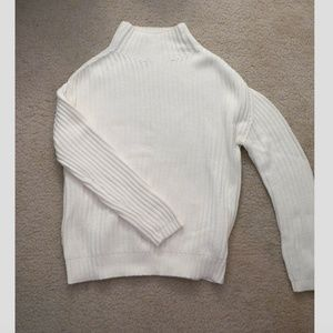 Gap White Mockneck Chunky Sweater Size XS